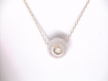 Pearl is is the Birthstone for June Carved-Pearl-Pendant-with-Inset-Diamond