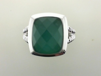 Alternatives to Diamond Engagement Rings Green Agate Ring-98