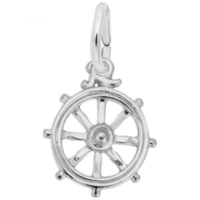 photo number one of Sterling silver Ships Wheel charm item 001-710-03512