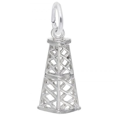 photo number one of Sterling silver Oil rig charm item 001-710-03515
