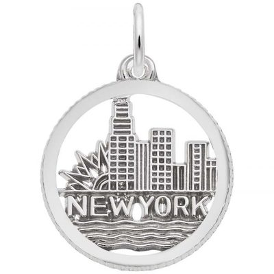 photo number one of Sterling silver New York skyline charm item 001-710-03519