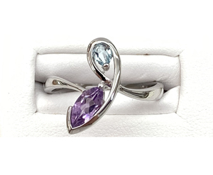 photo of Sterling Silver topaz and amethyst ring item 001-220-00640