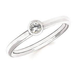 photo of Sterling silver white sapphire ring item 001-220-00661