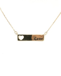 photo of 10 karat yellow gold Love trapeze necklace item 001-310-00263