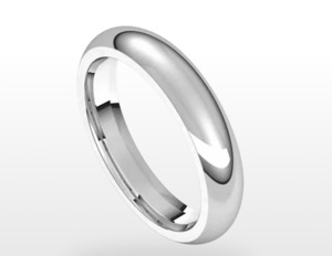 photo of 4mm Sterling silver size 11 comfort feel band item 001-430-00493