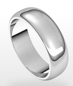 photo of 6mm sterling silver size 10 comfort feel band item 001-430-00529