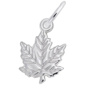 photo of Sterling silver maple leaf charm item 001-710-01500