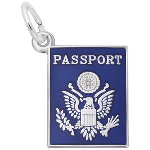 photo of Sterling silver passport charm item 001-710-02727