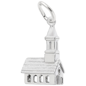 photo of Sterling silver church charm item 001-710-02847