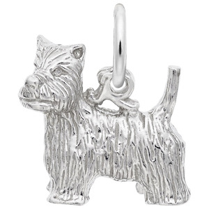 photo of Sterling silver West highland Terrier charm item 001-710-02867