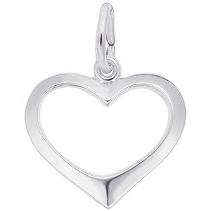 photo of Sterling silver open heart charm item 001-710-02893