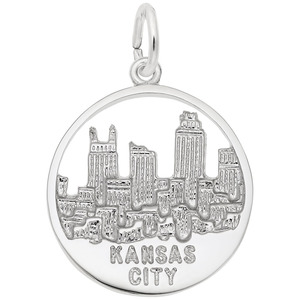 photo of Sterling silver Kansas City charm item 001-710-02976