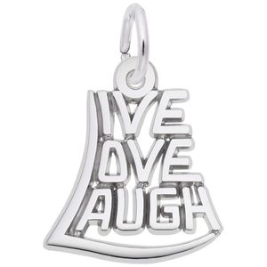 photo of Sterling silver Live Love Laugh charm item 001-710-03394