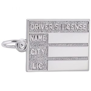 photo of Sterling silver Drivers License charm item 001-710-03510