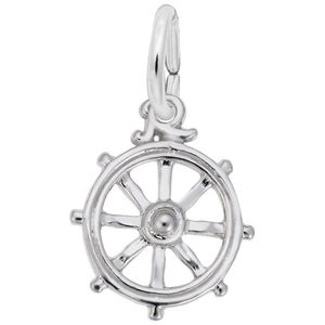 photo of Sterling silver Ships Wheel charm item 001-710-03512