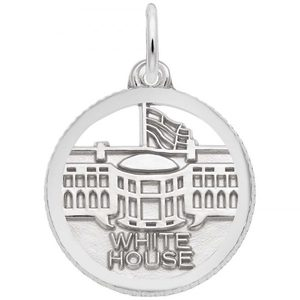 photo of Sterling silver white house charm item 001-710-03516