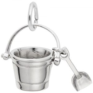 photo of Sterling silver pail & shovel charm item 001-710-03518