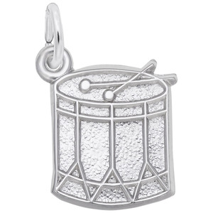 photo of Sterling silver drum charm item 001-710-03537