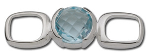 photo of Sterling silver Blue topaz convertible clasp item 001-711-00022