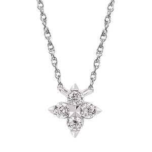 photo of 14 karat white gold Diamond Pendant with 1/8 carat total diamond weight item OP19A23